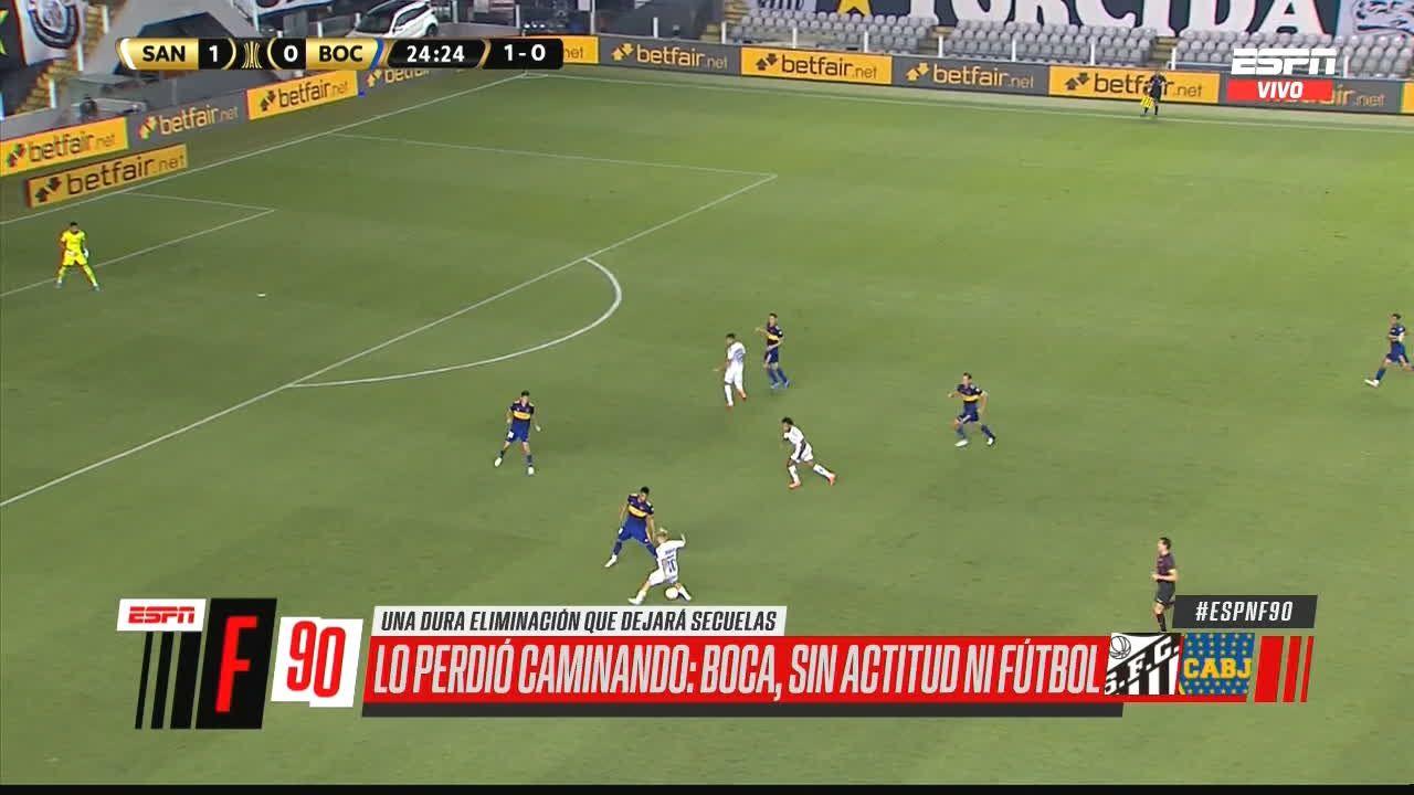 VIDEO VIRAL: La insólita actitud pasiva de los jugadores de Boca frente al Santos en la semifinal de Libertadores