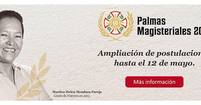MINEDU amplía convocatoria de Palmas Magisteriales 2017 hasta el 12 de Mayo - www.minedu.gob.pe