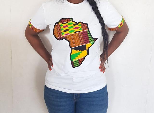 Tee-Shirt style Africain, une fabrication manuelle : Mode, tendance, Tee-Shirt, style, look, Vêtement, ethnique, traditionnel, tissu, wax, bazin, manches, courtes, longues, Dashiki, chemise, imprimé, LEUKSENEGAL, Dakar, Sénégal, Afrique