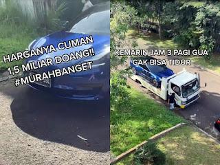 Cerita Youtuber Indra Kesuma Beli Mobil Tesla Jam 3 Subuh Efek Tidak Bisa Tidur