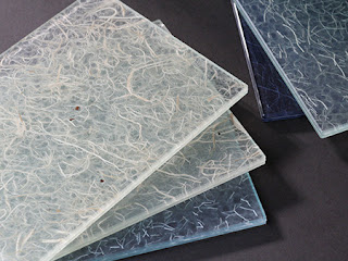 Washi Paper Laminated in Glass