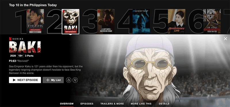 Baki: The Great Ratai Tournament Saga arrives on Netflix PH