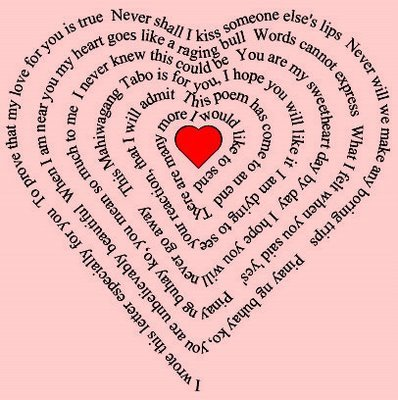 Short love poems for him from the heart