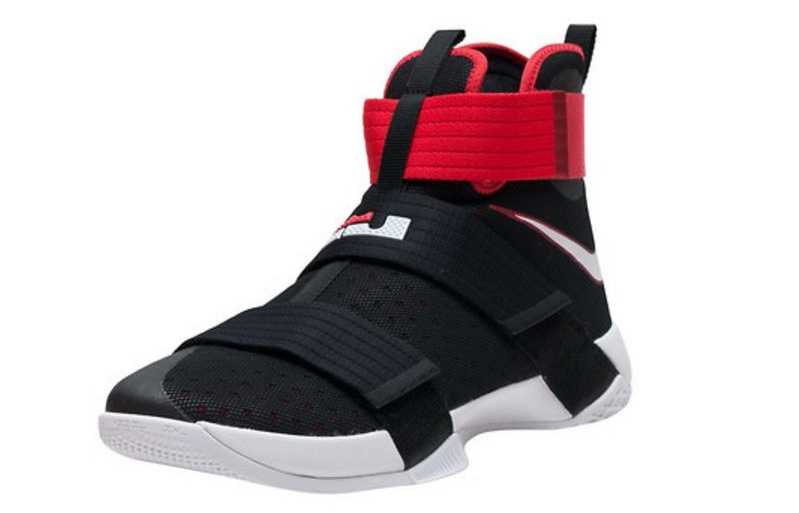 competitive price ade1e 74ab0 THE SNEAKER ADDICT: Nike Lebron James Soldier 10 Black/Red ...