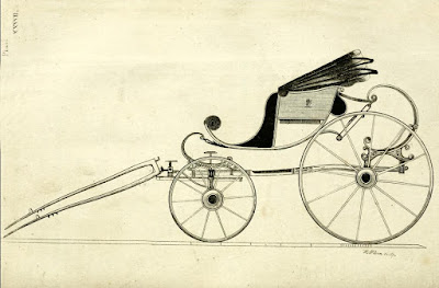 Light one-horse or poney Berlin phaeton  from A Treatise on carriages by W Felton (1796)