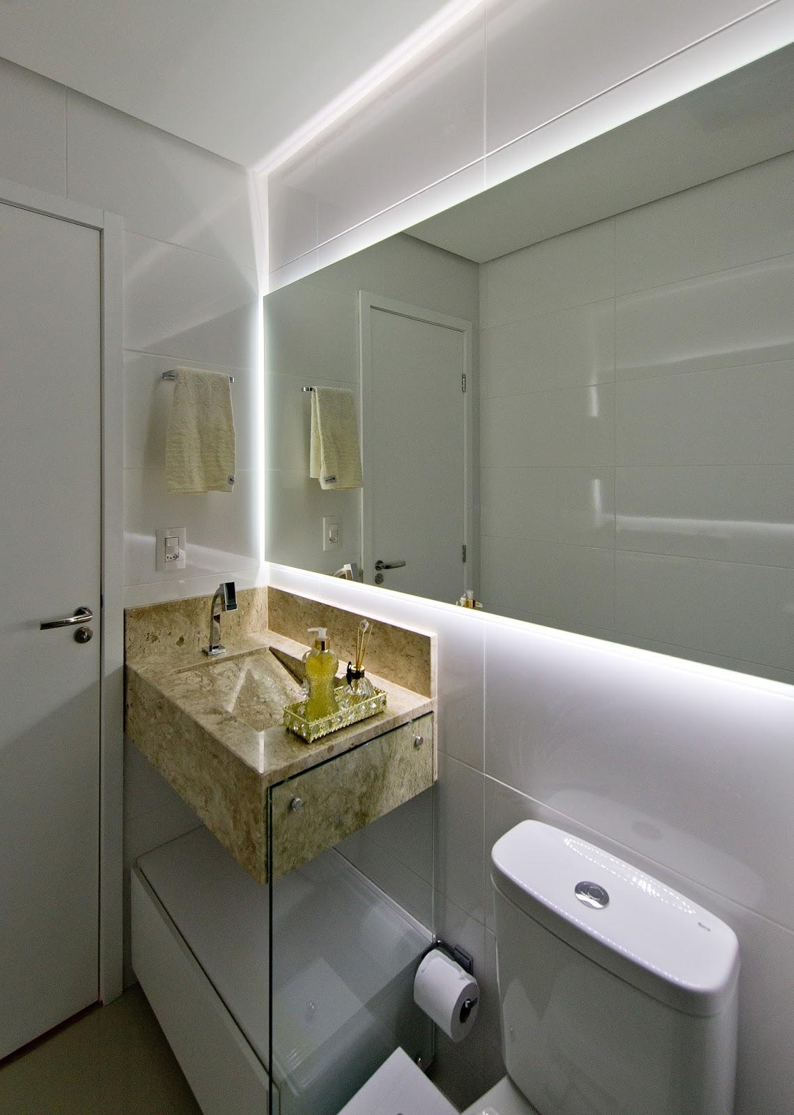 #595136  Amplia Espaços e Transforma Apartamento Compacto em Grande Lar 1140x1600 px projeto banheiro compacto