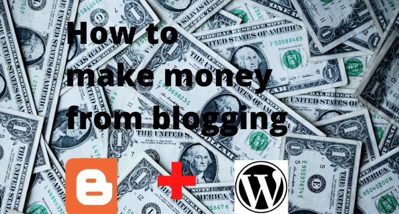 How to make money form blogging