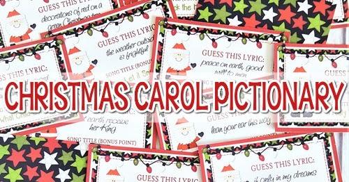 Christmas Carol Printable: PRINTABLE Christmas Carol Pictionary