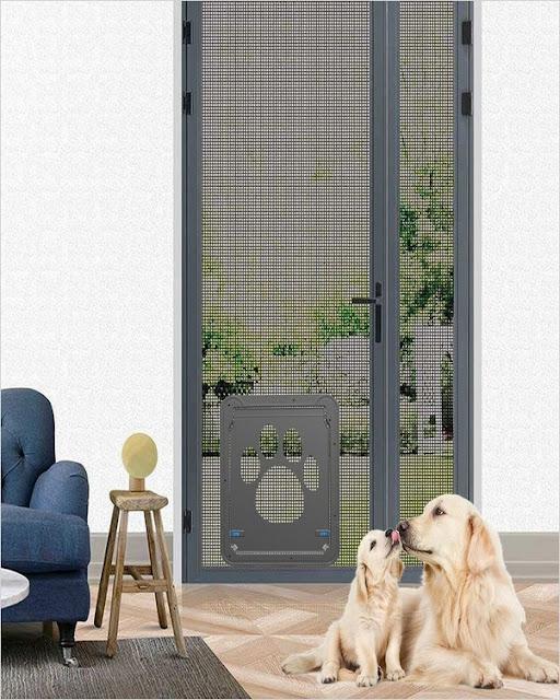 buy sliding screen door with dog door