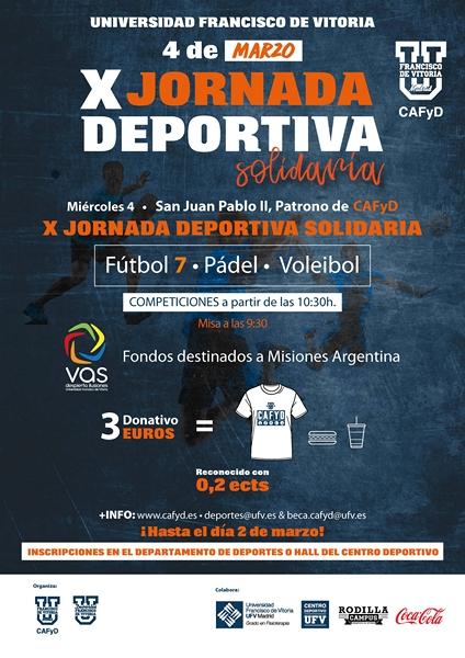 Patrono de CAFyD San Juan Pablo II y la X Jornada Deportiva Solidaria UFV MADRID CAFYD
