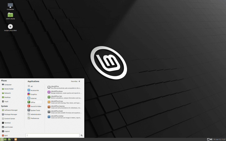 Linux Mint MATE Edition Screenshot