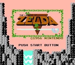 Captura de pantalla de The Legend of Zelda, NES, 1986