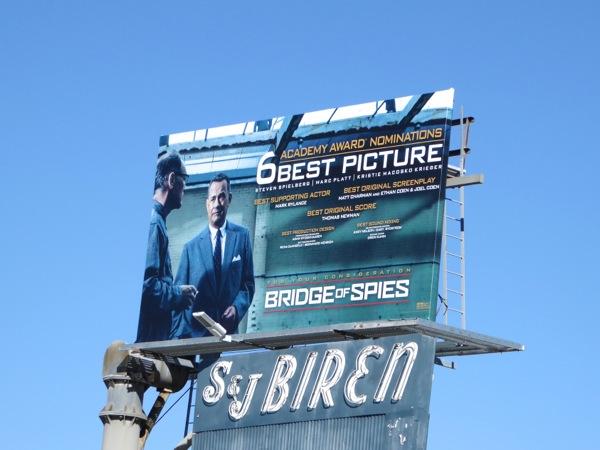 Bridge of Spies Oscar nominee billboard