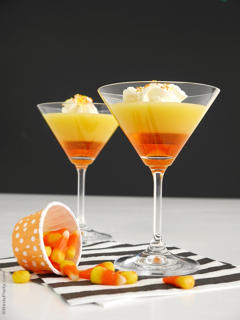 candy corn halloween cocktail recipe birdspartycom