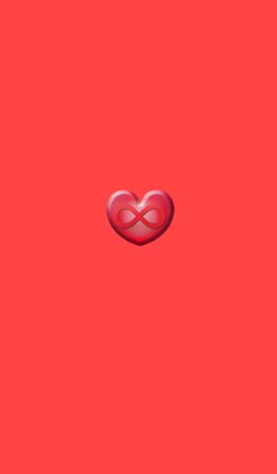 Red heart infinity
