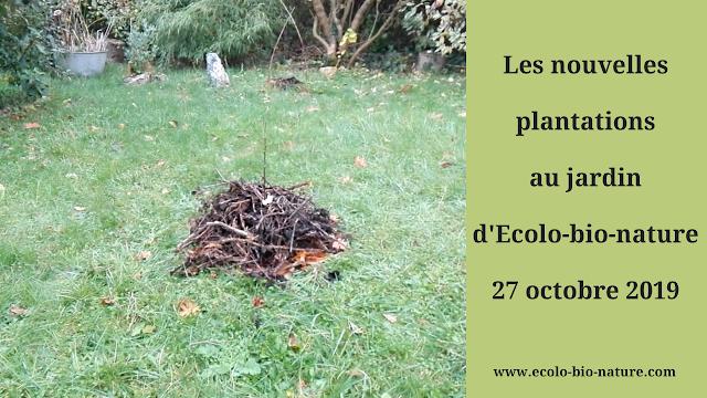 Les nouvelles plantations au jardin d'Ecolo-bio-nature au 27 octobre 2019 (vidéo)
