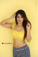 Cute Telugu Actress Shunaya Solanki High Definition Spicy Pos in Yellow Top and Skirt  0488.JPG