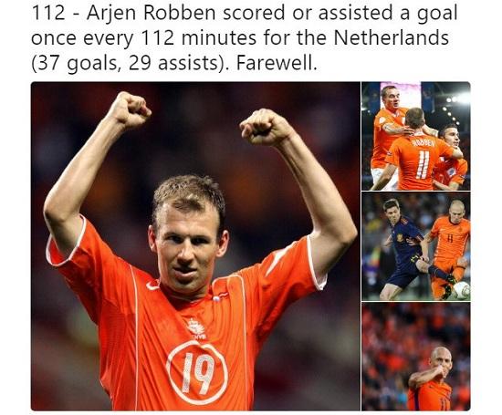 Robben giữ vai trò quan trọng cho chiến thắng của đội tuyển Hà Lan.
