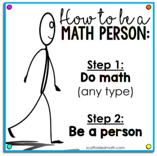 How to be a Math Person virtual poster