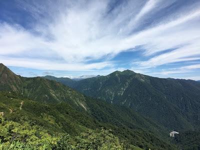 朝日岳と清水峠