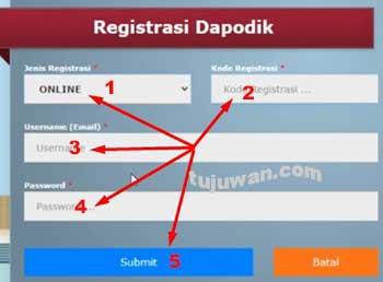 Cara online registrasi dapodik versi 2021.c