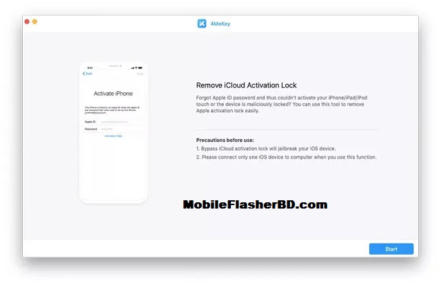 Download 4MeKey v1.0.2.0 Crack iphone Cloud Bypass Latest Update Unlock Tool Free For All Without Password