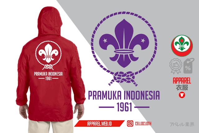 Jacket Taslan Waterproof Pramuka Indonesia - Konveksi Jacket
