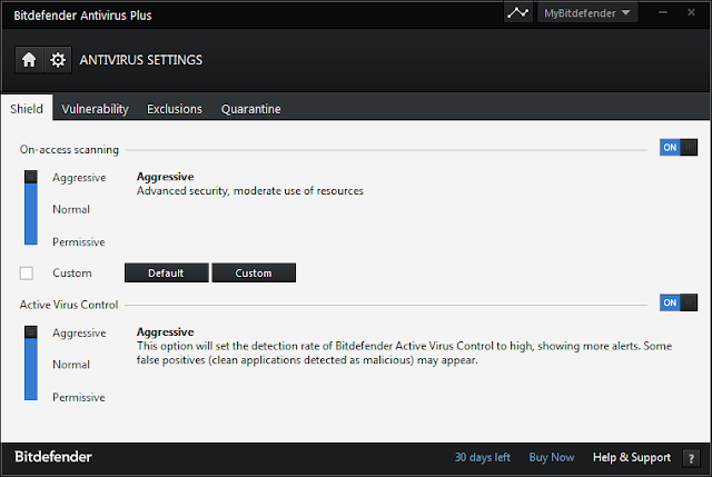 Bitdefender-Antivirus-Plus-aggressive-settings