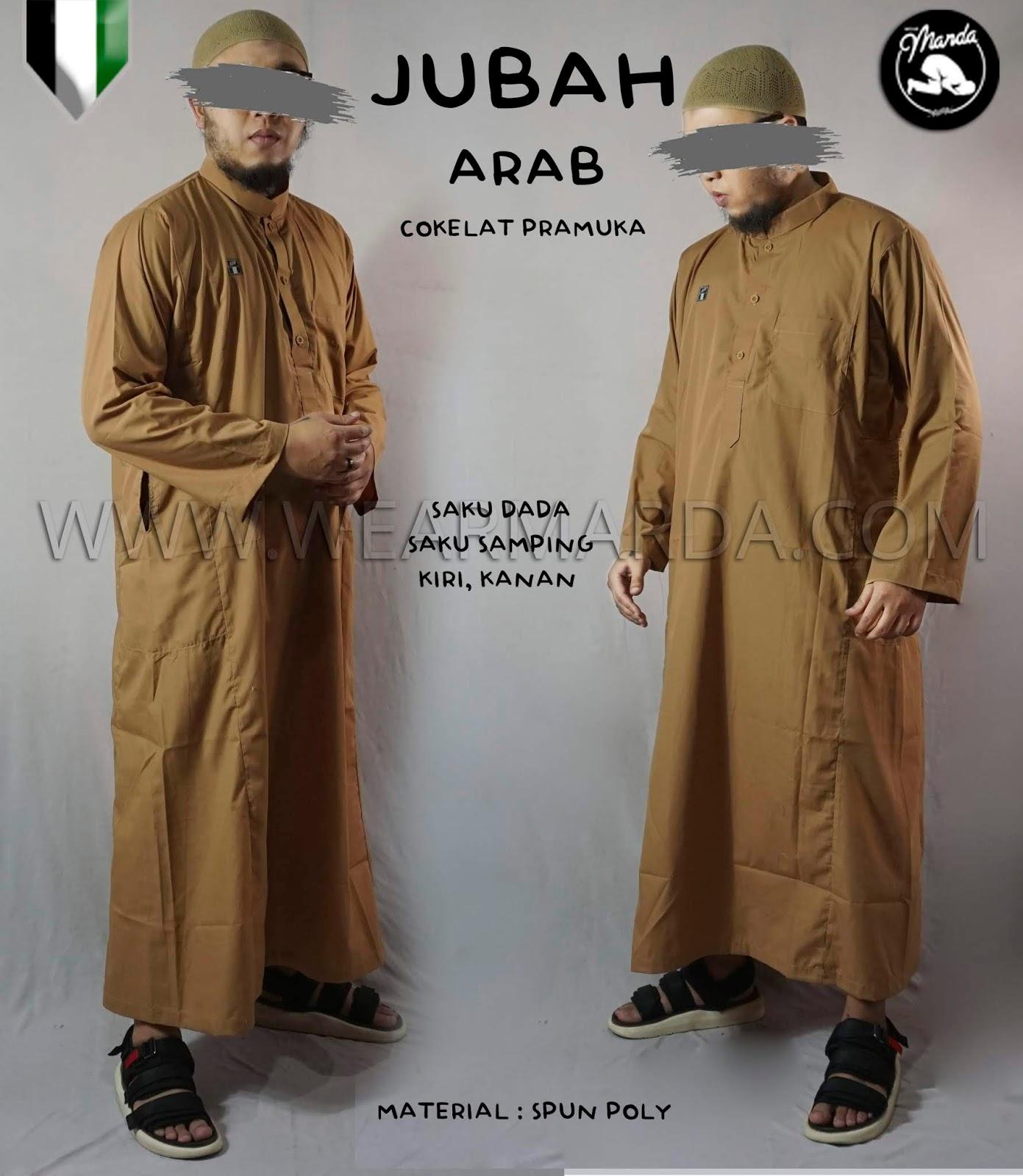 JUBAH ARAB COKELAT PRAMUKA