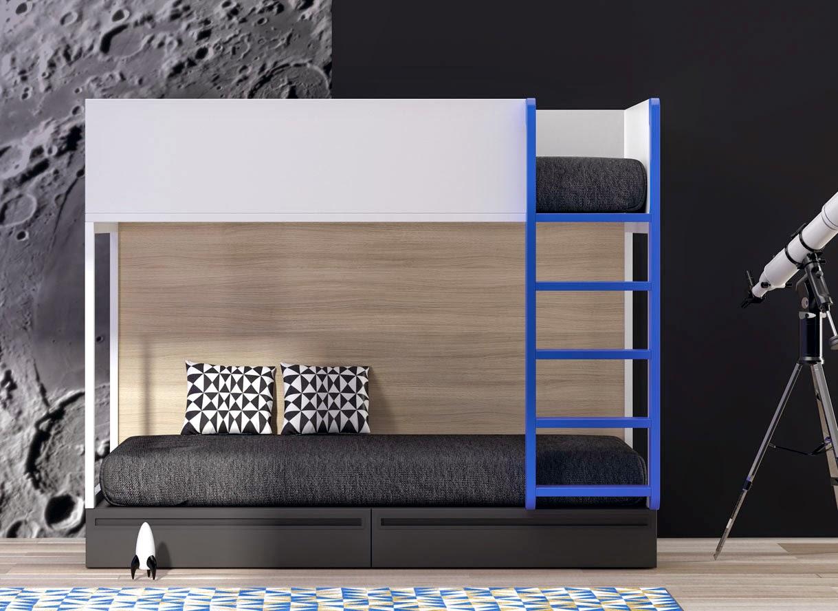 Dormitorios juveniles para dos hermanos - Literas para habitacion pequena ...