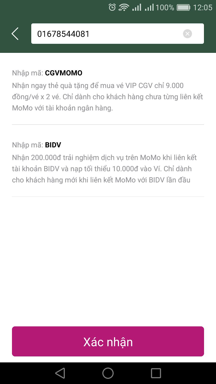 Kiếm tiền với ứng dụng momo nhận ngay 100K khi liên kết momo với tài khoản