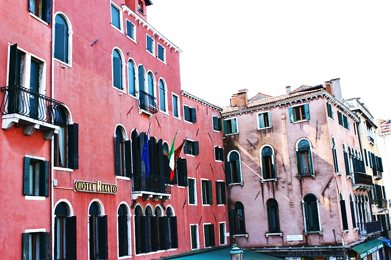 Hotel Rialto famous hotel in Venice.