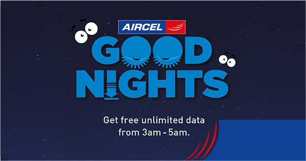 Aircel Free Internet-Get Unlimited Free Net Data(3 am to 5 am)