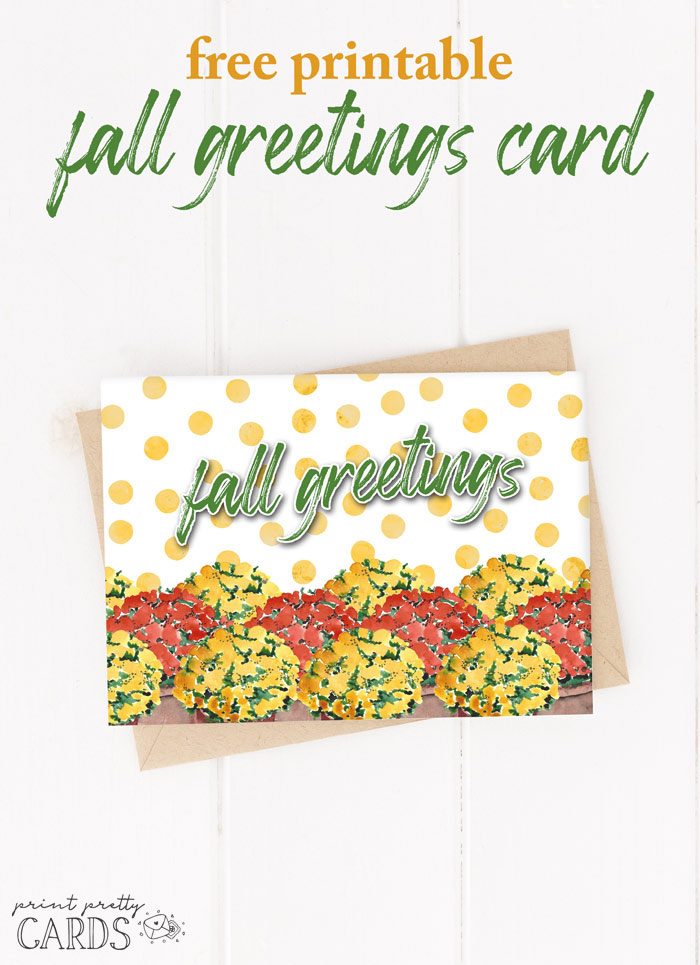 Free Printable Fall Greeting Cards