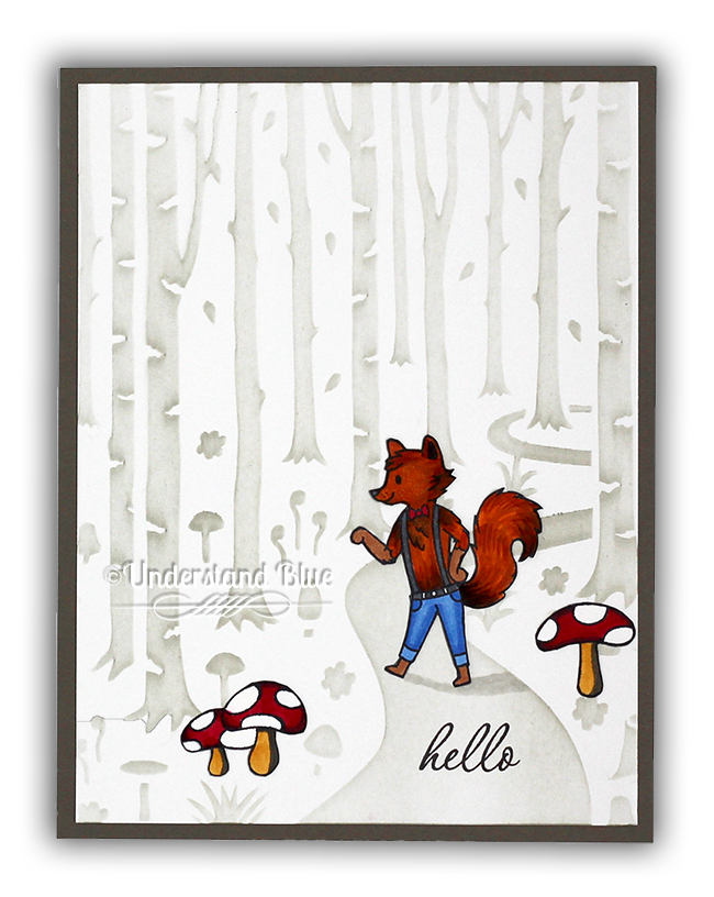 Into the Woods Card by Understand Blue