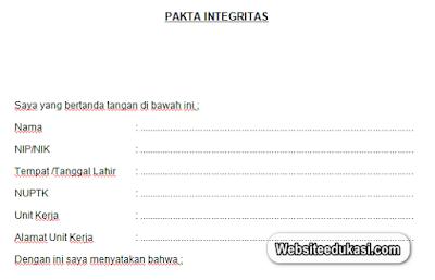 Pakta Integritas PPG Dalam Jabatan Tahun 2020