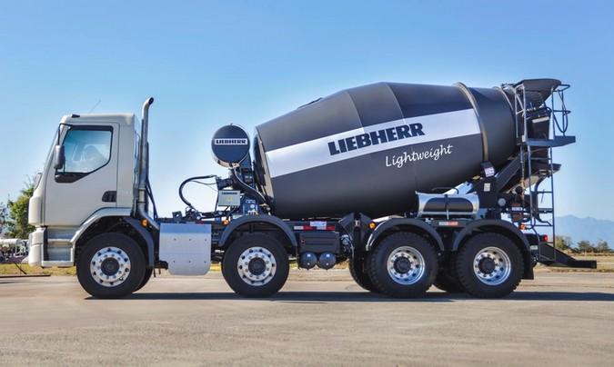 Liebherr apresenta betoneira 30% mais leve produzida com aço de alta resistência
