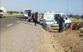 مدنين : انقلاب سيارة اسعاف على متنها 5 مصابين بفيروس كورونا