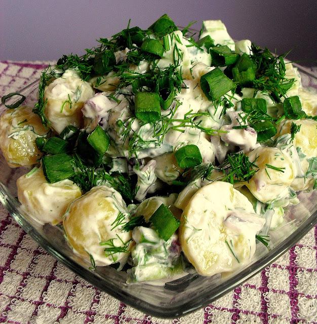 Prosta sałatka ziemniaczana do grilla przepis
