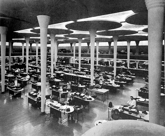 the 1938 Johnson office by Frank Lloyd Wright