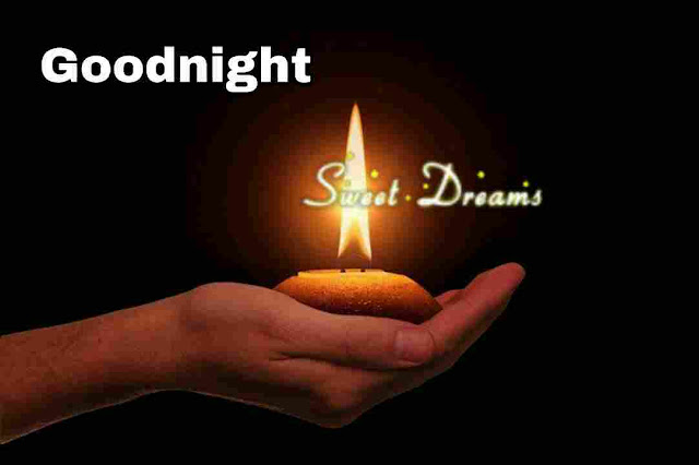 Good Night sweet dreams Image of candle light