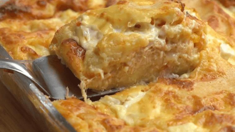 Receita de torta de frango cremosa de liquidificador