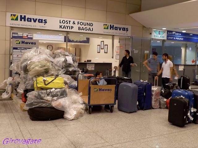 aeroporto Istanbul bagagli smarriti