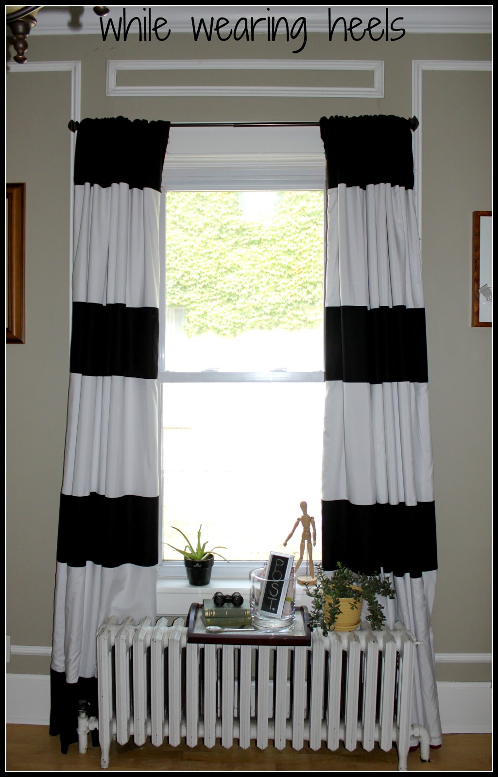 I First Fell In Love The Notion Of No Sew Striped Curtains Thanks To Yellow Cape Cod Then And There Pinned It Shortly After Made Another Pin
