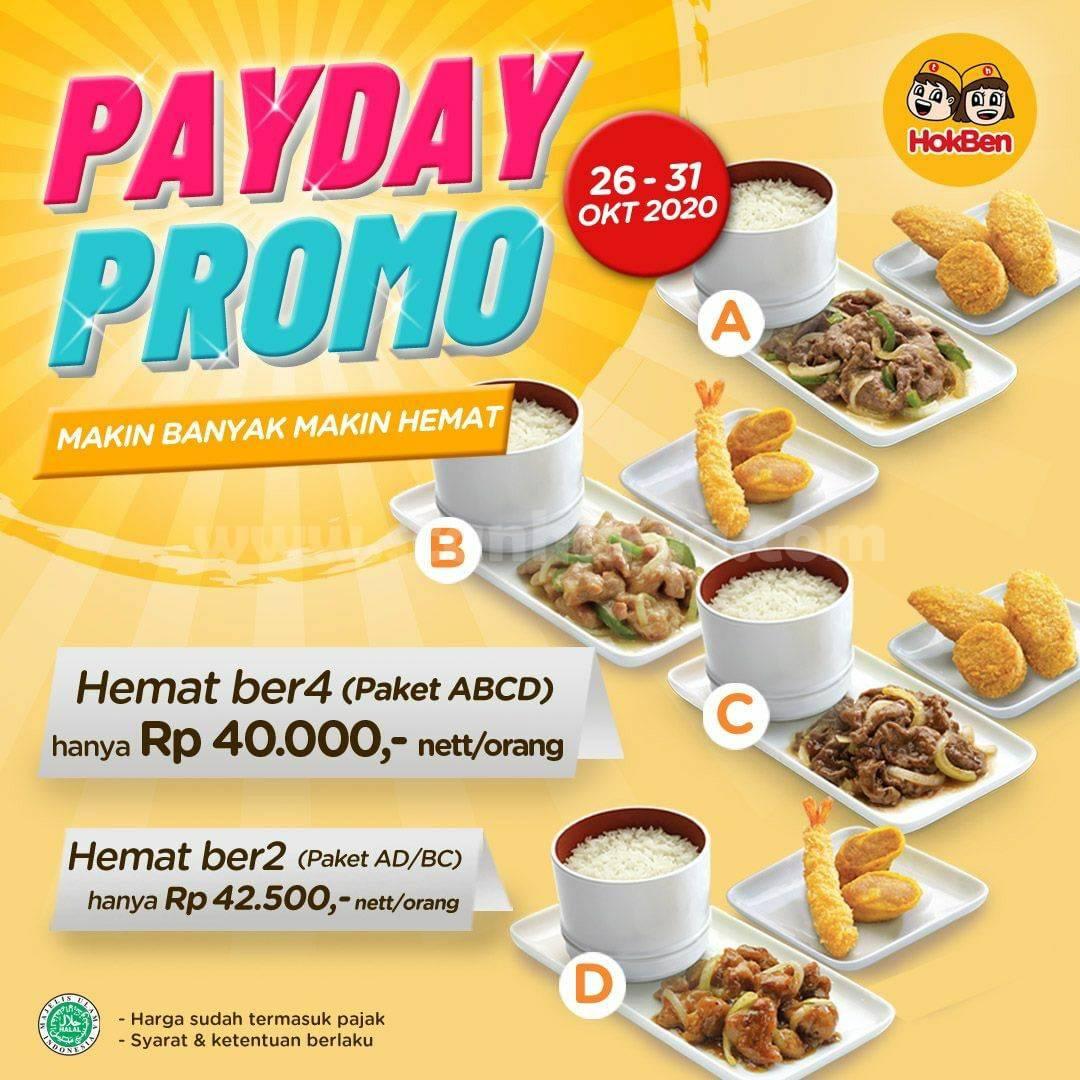 HOKBEN Payday Promo Paket ABCD hanya Rp 40.000,- nett/orang