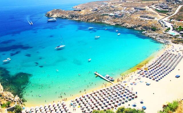 Praia Super Paradise - Grécia