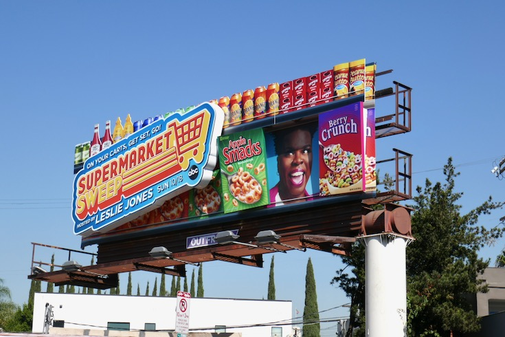 Supermarket Sweep 3D installation billboard