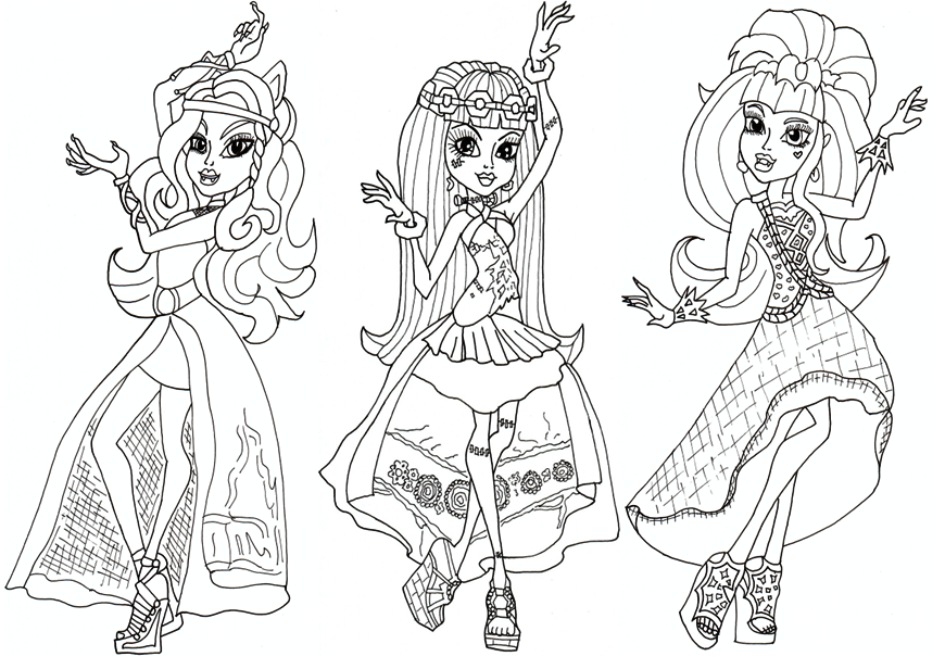 Free printable monster high coloring pages free 13 wishes for Free monster high coloring pages