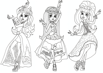 Free Printable Monster High Coloring Pages: Free 13 Wishes