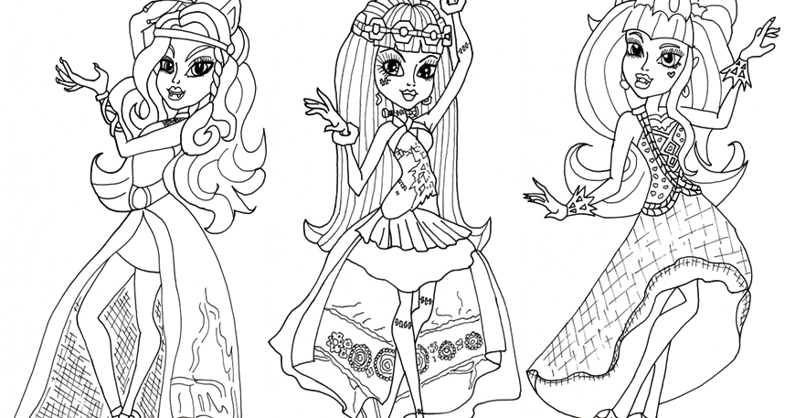 Free Printable Monster High Coloring Pages: Free 13 Wishes Haunt The ...